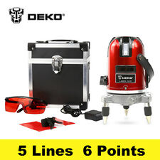 New 5 Lines 6 Points 360 Vertical & Horizontal Rotary Cross Laser Line Leveling