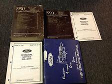 1990 Ford  F-150 250 350 Econoline Bronco Trucks Service Shop Manual Set W Bull