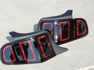 10-12 Mustang Smoked Tail Lights  2013 Style  Custom Painted Brake Ford OEM  🔥
