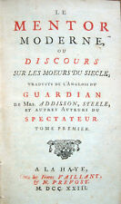 1723 – ADDISON - STEELE, LE MENTOR MODERNE – GIORNALISMO FILOSOFIA THE GUARDIAN