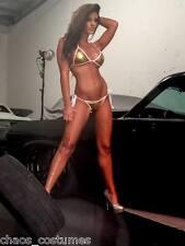 Sexy Gold Metallic String Bikini Naughty Stripper Dancer Bedroom Costume 6-12