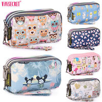 Women Handbag Wristlet Wallet Cosmetic Clutch Bag Pencil Case Coin Phone Purse