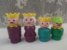 Fisher Price Castle Little People Royal Family King Queen Woodsman Prince