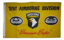 2x3 101st Screaming Eagles Airborne Yellow Flag 2'x3' Banner Poly Grommets