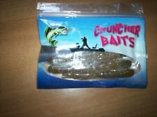 CRUNCHER BAITS GOBY W/ GOLD FLECK TUBE BAIT BASS PLASTIC FISHING LURE  10 PIECES