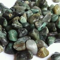 1/2 lb Tumbled Emerald Crystals Gemstones Bulk Natural Rocks Gems 15-30 Stones
