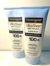 Neutrogena Ultra Sheer Dry-Touch Sunscreen Broad Spectrum SPF 100+   BUNDLE OF 2