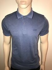 "NEU Hugo Boss Herren Black Label Regular Fit Polo Shirt blau L 40/42"" Brustumfang"