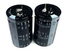 NEW 470uF 470 uF 400V Radial Electrolytic Capacitors Nichicon (2pc Lot)