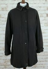 BARBOUR Wool Newmarket Brown Coat size Uk 16