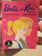 Vintage Mattel Barbie And Ken Doll Pink Mini Fashion Booklet Book Catalog, 1962!