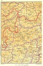 ITALY SWITZERLAND AUSTRIA. Tirano Trento 1953 old vintage map plan chart
