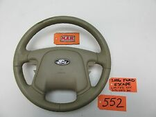 05 06 07 ESCAPE STEERING WHEEL TAN LEATHER HORN PAD AIR BAG COVER 6L8478043B13