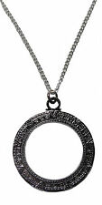 "Stargate Atlantis Silver Antique Finish NECKLACE 24"" chain LICENSED REPLICA"