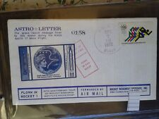 COVER rocket  mail US ASTRO LETTER  1972  rare   (ros4087