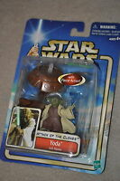 STAR WARS ATTACK OF THE CLONES YODA JEDI MASTER WITH FORCE ACTION #23 MOSC