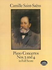 Camille Saint-Saens Piano Concertos Nos. 2 4 Full Score Learn to Play Music Book