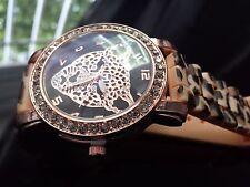 Reloj,watch de pulsera  leopardo para mujer en tres colores