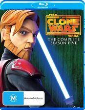 Star Wars - The Clone Wars - Animated Series : Season 5 (Blu-ray, 2013) (D126)