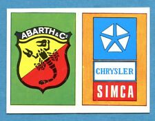 AUTO FLASH - Ed.COX - Figurina/Sticker n. 169+179 - ABARTH + CHRYSLER SIMCA -New