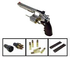 "WG 702bbs 6""inch Airsoft WinGun Pistols 12gr co2 Gas Metal Shells & Revolver m9"