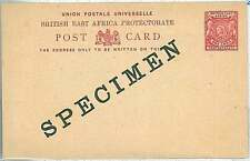 LIONS - British East Africa Protectorate -  POSTAL STATIONERY : SPECIMEN