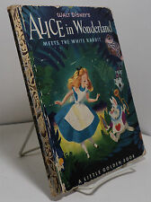 Walt Disney's Alice in Wonderland Meets the White Rabbit - Little Golden Book