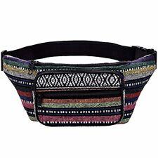 Boho Fanny Pack Stripe Festival Bum Bags Travel Hiking Hip Waist Aztec Tribal