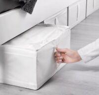 """Ikea Skubb Storage Box 17.25x21x7.5"""" New Conceal Storage Under Bed White"""