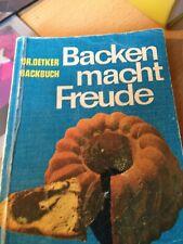 Dr. Oetker Backbuch. Backen macht Freude, Ausgabe von 1963