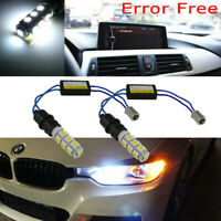 2x BA9 64132 Error Free 13-SMD 6000K White LED Bulbs For BMW F30 Parking Lights