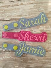 PERSONALIZED YOUR NAME ON A KEYCHAIN KEY FOB SNAP TAB PURSE CHARM LANYARD ZIPPER