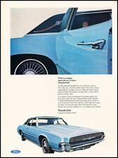 1967 Ford Thunderbird 4-door in Blue Vintage Advertisement Print Art Car Ad J500
