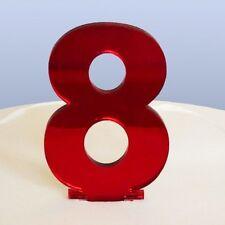 contemporain numéro 8 gâteau décoration - copié Rouge