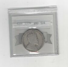 1908 ,Coin Mart Graded Canadian Silver 50 Cent, **G-6**