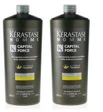 Homme : 2 X Bain Capital Force Vita Energizante 1000ML Men Kerastase + Pump
