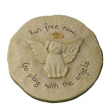 Dog Pet Animal Memorial Stone Rock Stepping Paw Print Plaque Grave Marker Garden