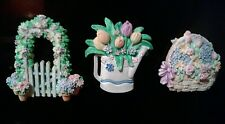 Set of 3 Refrigerator magnets, spring bouquet theme
