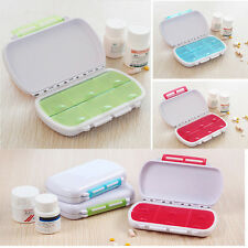 Weekly Pill Box Medicine Organiser Travel 6 Day Tablet Storage Dispenser Case HI