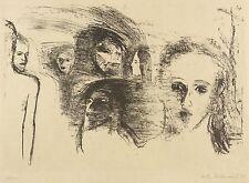 HERTA HEIDENREICH - Figuren - Lithografie 1981