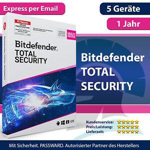 Bitdefender Total Security Multi Device 2021 - 5 Geräte & PC | 1 Jahr + VPN