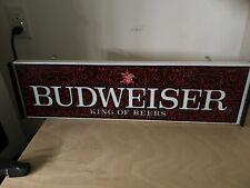 New listing vintage budweiser lighted beer sign