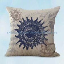 US SELLER, decorative pillows seashell sailor beach coastal cushion cover