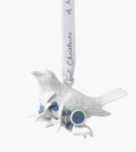 Wedgwood 2020 Christmas Four Calling Birds Decoration- New