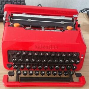 Valentine Typewriter Red RARE Vintage work Tested Olivetti Japan 1970's