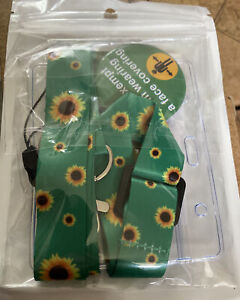 Exemption Card Lanyard And Badge Set I Am Exempt Sunflower New Sealed