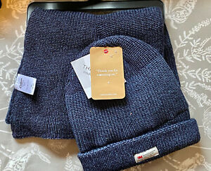 Men's Cotton Traders 3M Thinsulate Navy Blue Hat & Scarf Set - One Size