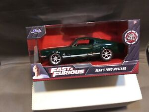 JADA FAST AND FURIOUS Sean's FORD MUSTANG Diecast Green 1:32 Scale FREE SHIPPING