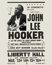 John Lee Hooker - 1975 Concert Poster - 8x10 B&W Photo