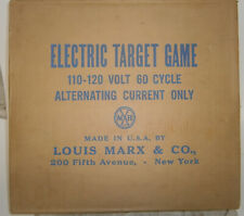 marx toy Electric target game BoxED tin instructions WORKING floating ball 1950s